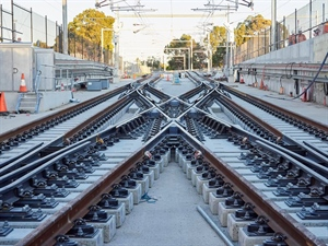 Track laying full steam ahead on the Forrestfield-Airport Link